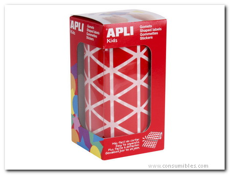 APLI GOMETS ROLLO 20 MM ROJO TRIANGULO 4869
