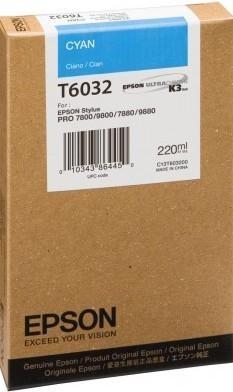 CARTUCHO DE TINTA CIAN 220 ML EPSON T6032