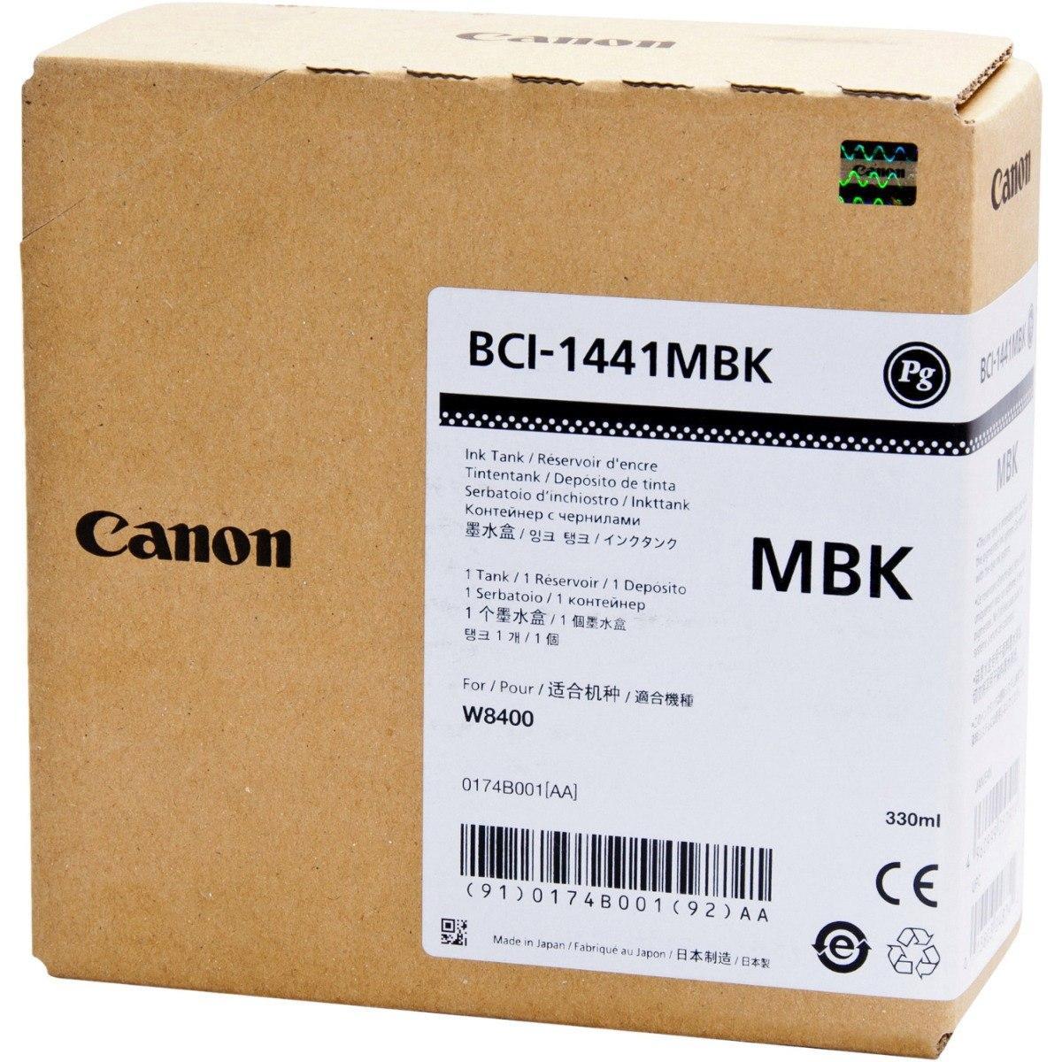 CARTUCHO DE TINTA NEGRO MATTE CANON BCI-1441MBK 330 ML