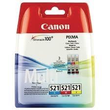 Cartucho de Tinta Tricolor 30 ml CLI-521C-M-Y
