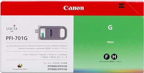 CARTUCHO DE TINTA VERDE 700 ML CANON PFI-701G