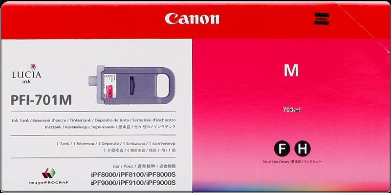CARTUCHO DE TINTA MAGENTA 700 ML CANON PFI-701M