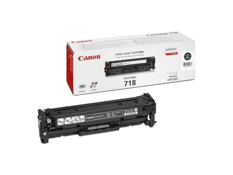 Cartucho de tóner Negro Canon CRG-718BK