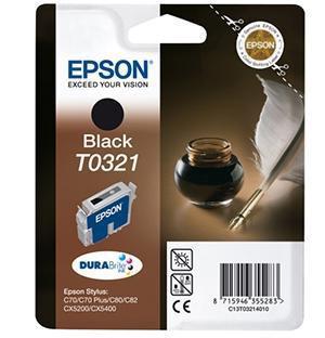 CARTUCHO DE TINTA NEGRO PACK 2 EPSON T0321