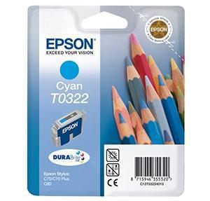 CARTUCHO DE TINTA CIAN EPSON T0322