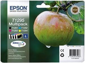 CARTUCHO DE TINTA RAINBOW PACK NEGRO - AMARILLO - CIAN - MAGENTA EPSON T1295
