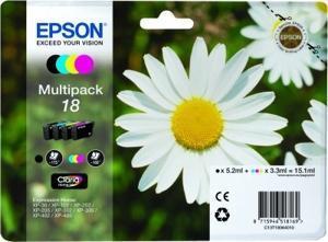 Epson Expression Home XP-102/205/305/405 MultiPack 4 Cartuchos (K C M Y)nº18
