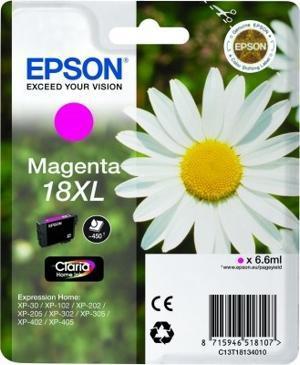 CARTUCHO DE TINTA MAGENTA CLARIA HOME ALTA CAPACIDAD EPSON 18XL