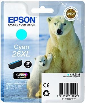 CARTUCHO DE TINTA CIAN EPSON 26 - (T2632)