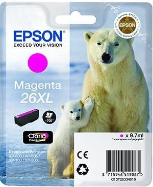 CARTUCHO DE TINTA MAGENTA EPSON 26 - (T2633)