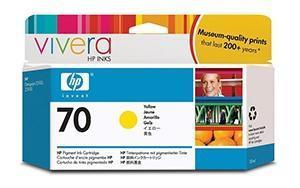 CARTUCHO DE TINTA AMARILLO 130 ML HP Nº 70