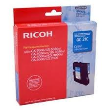 Tinta gel Type-GC 21C Cian Ricoh Type-GC21C