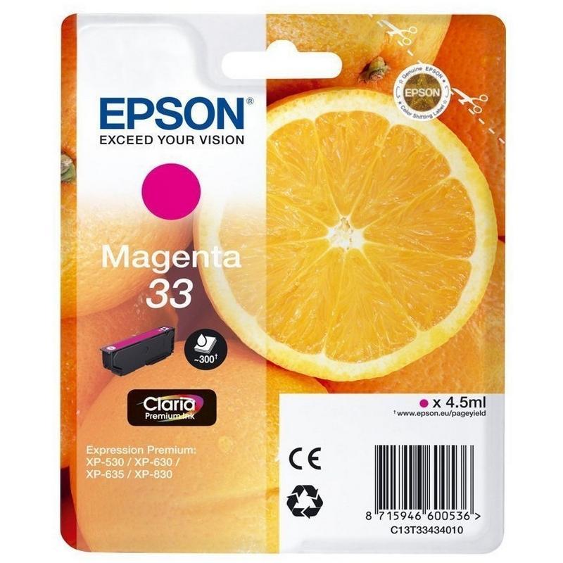 Cartucho de Tinta Magenta 4.5 ml Epson 33 - (T3343)