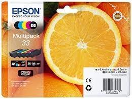 Multipack negro - negro Photo - Cian - Magenta - Amarillo T3331 + T3341 + T3342 + T3343 + T3344 Epson 33 - (T3337)