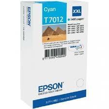 CARTUCHO DE TINTA CIAN XXL SUPER ALTA CAPACIDAD EPSON T7012 para WorkForce Pro WP-4595DNF