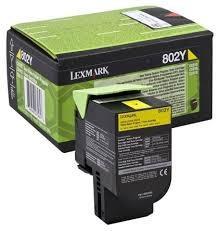 Cartucho de toner Amarillo Retornable Lexmark 802Y