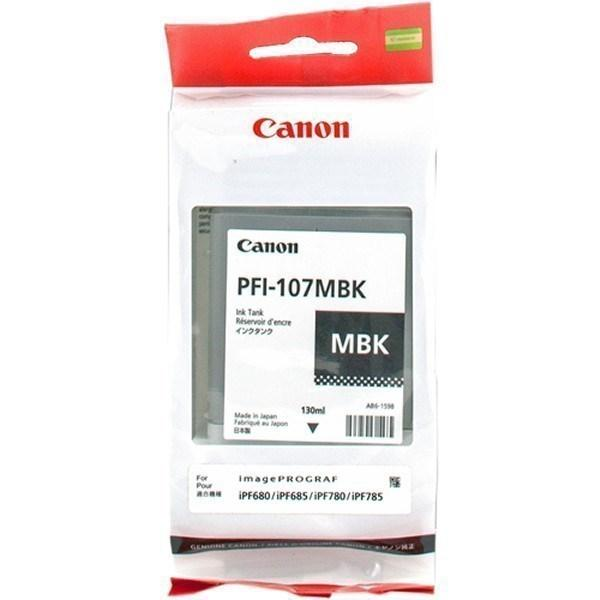 Cartucho de tinta negro (mate) PFI-107mbk 6704B001 130ml