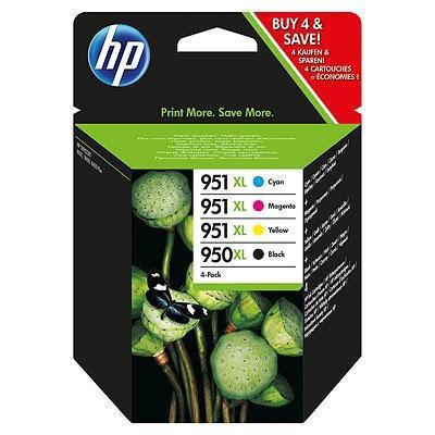 Cartucho de Tinta 4 Colores Alta Capacidad HP Nº 950XL-951XL