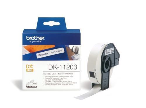 Etiquetas para Carpetas Papel 17X87 mm 300 Etiquetas DK-11203