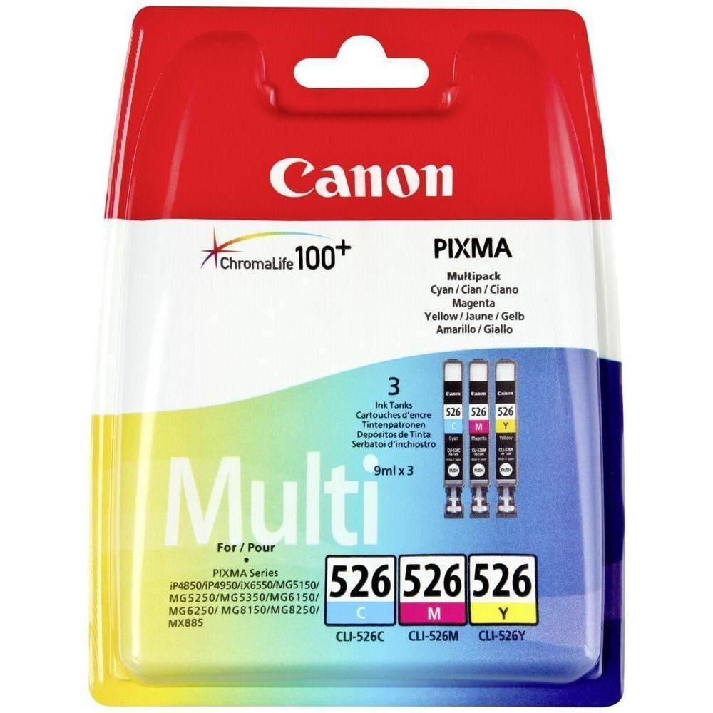 Pack de 3 cartuchos de tinta Tricolor Pack 3 Canon CLI-526C-M-Y
