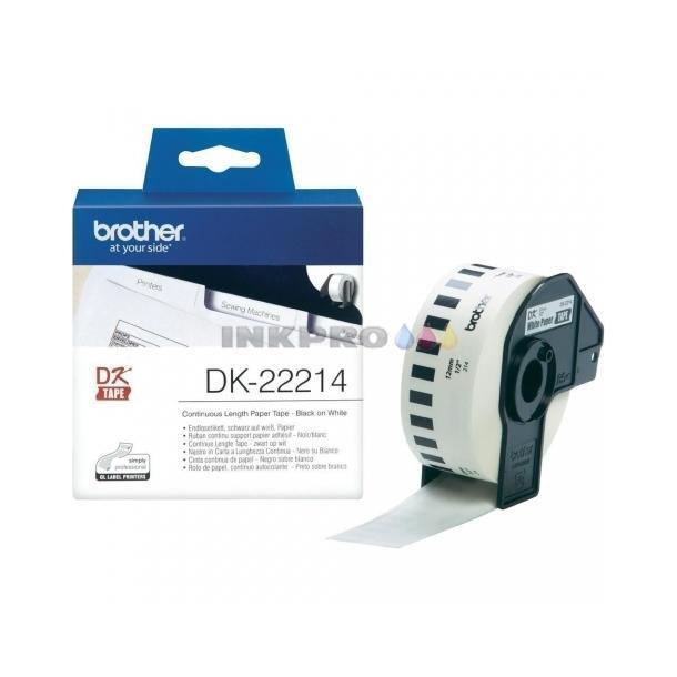 cinta de Papel Blanca 12 mm x 30,48M DK-22214