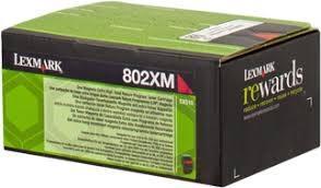 TONER MAGENTA LEXMARK 802XM RETORNABLE (4000 PAG)