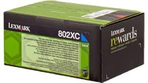 Cartucho de tóner Cian Retornable Lexmark 802XC