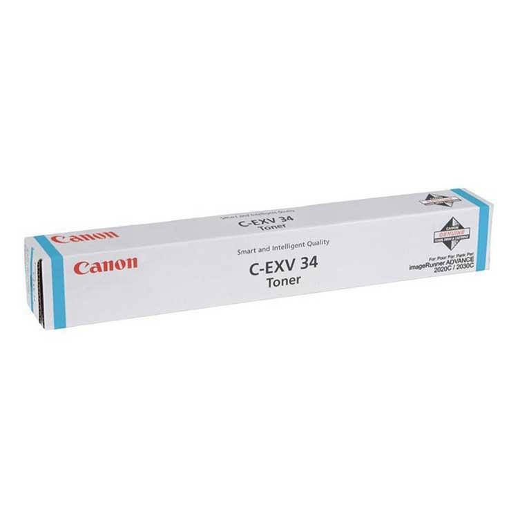 Cartucho de tóner Copiadora Cian Canon C-EXV-34