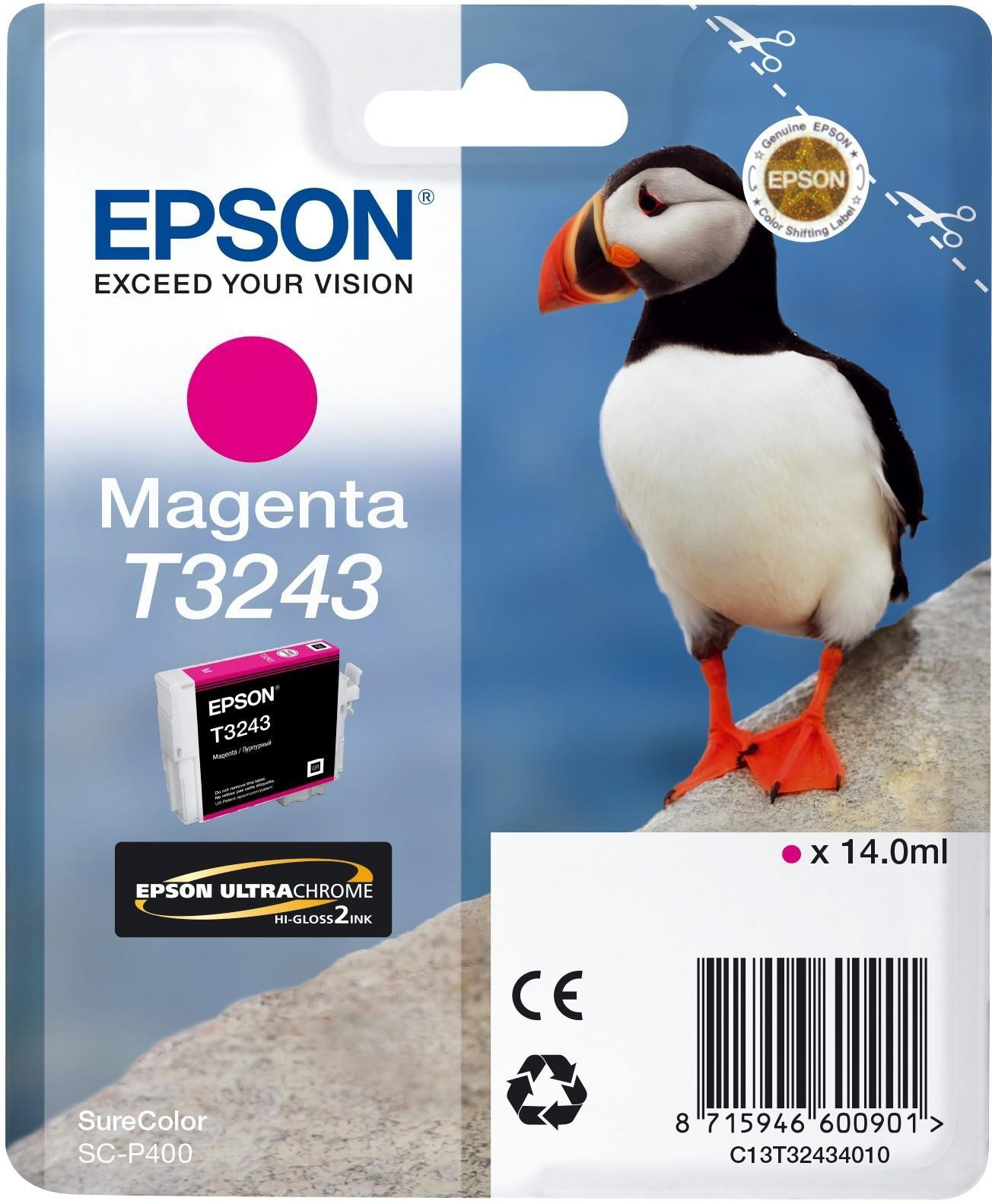 Cartucho de tinta magenta C13T32434010 T3243 980 páginas 14ml