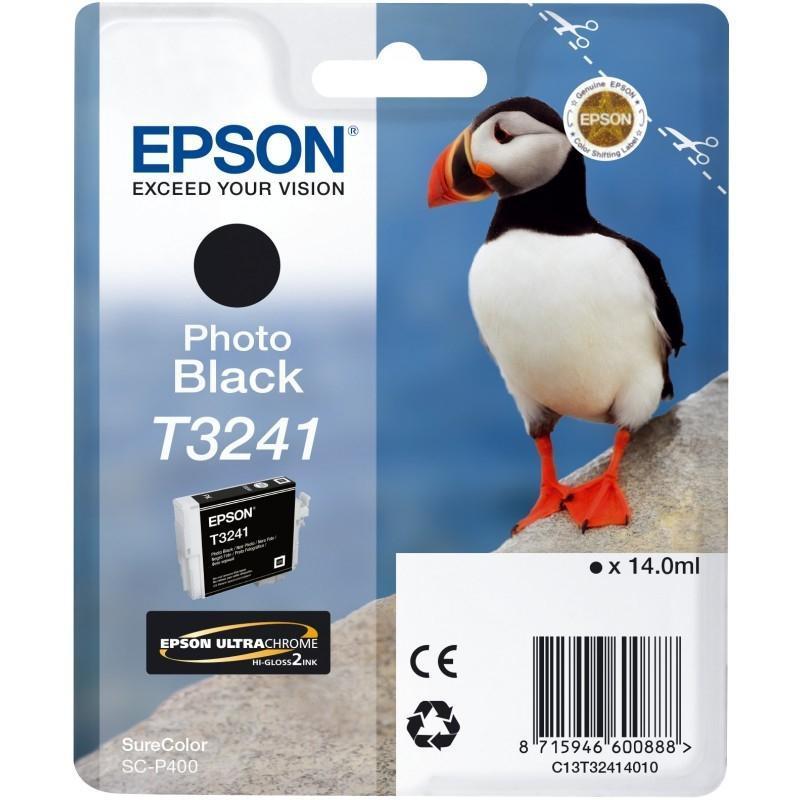 Cartucho de tinta Negro (foto) C13T32414010 T3241 4200 páginas 14ml