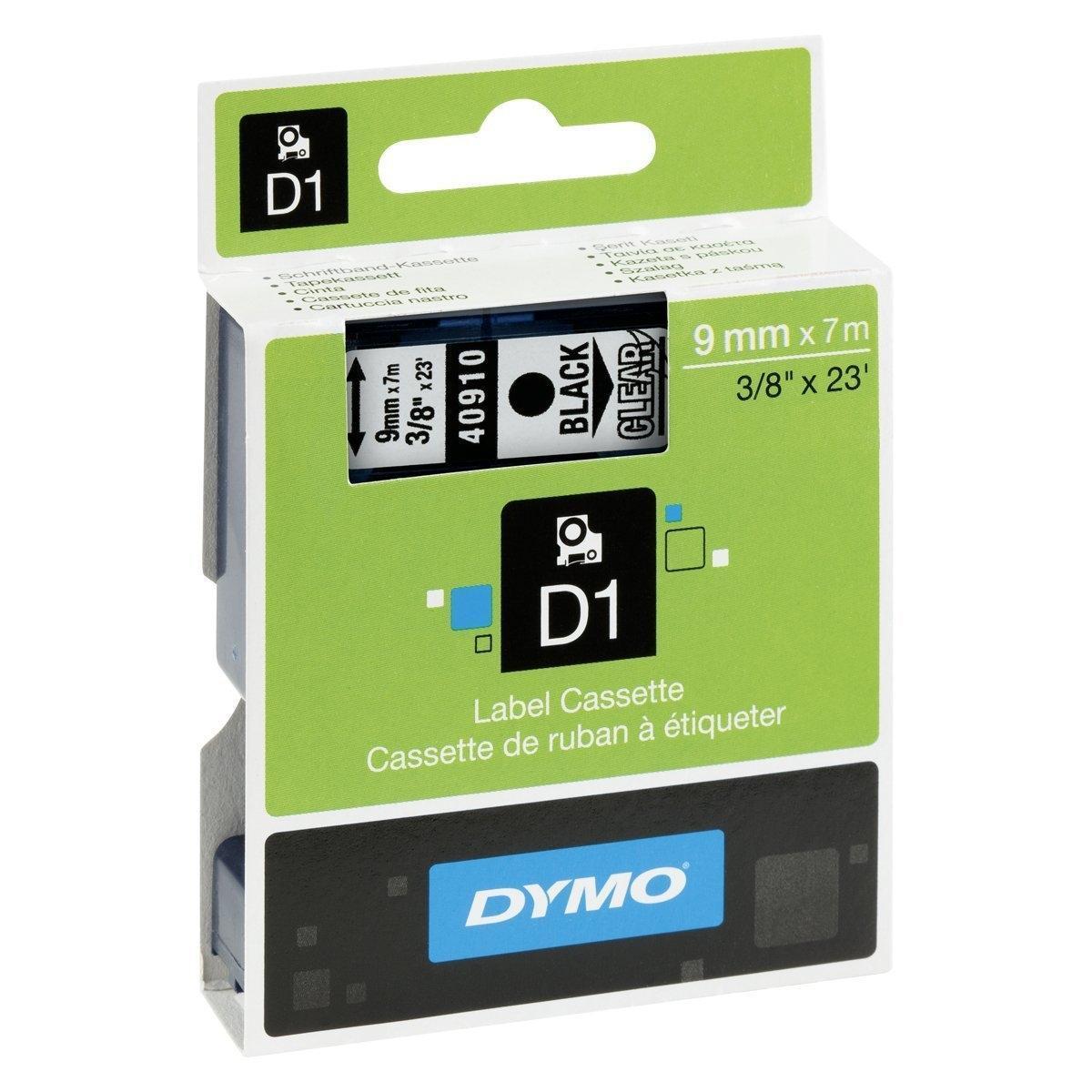 cinta negro sobre Transparente 40910 9 mm x 7m cinta-D1-estándard Dymo