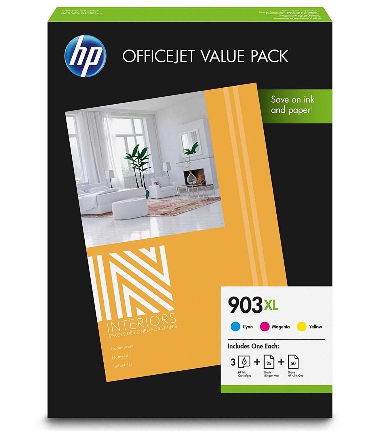 VALUE PACK TINTA + PAPEL PACK 3 COLORES (CMY) 903XL