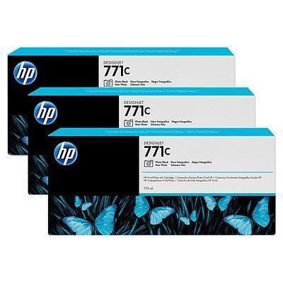 Pack de 3 cartuchos de tinta Gran Formato negro Foto 775 ml Pack 3 Nº 771
