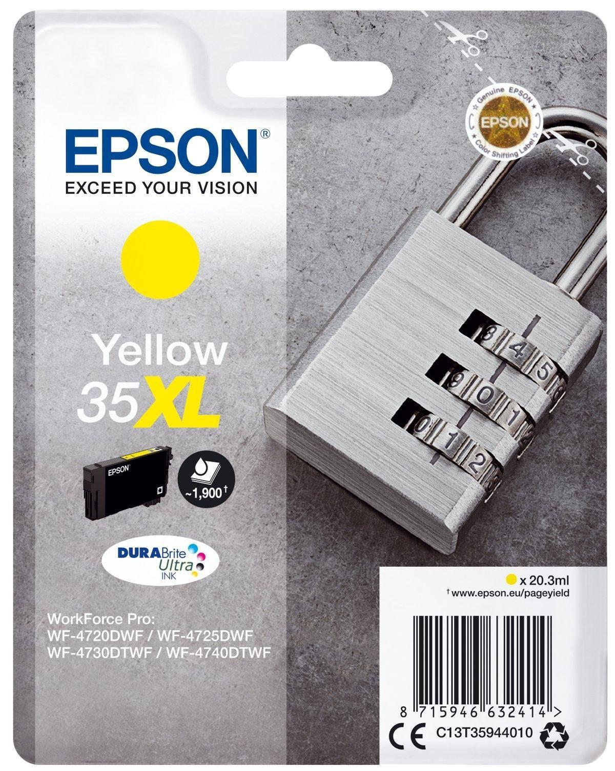 Cartucho de tinta amarillo 35XL DURABRITE ULTRA INK (EMBALAJE INDIVIDUAL 1 X 20 3 ML)