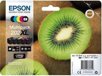 Multipack 5-colours 202XL Claria Premium Ink KIWI