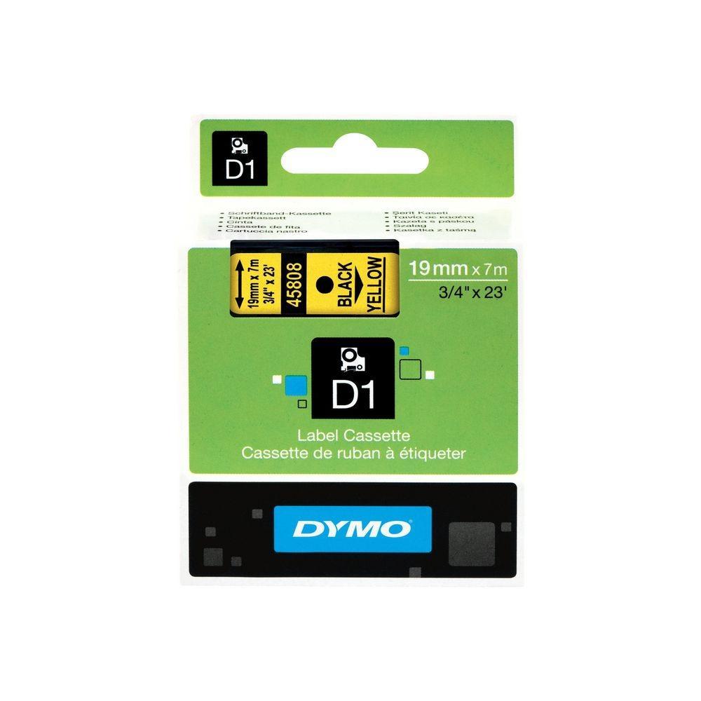 cinta negro sobre Amarillo 45808 19 mm x 7m estándard-D1-cinta Dymo