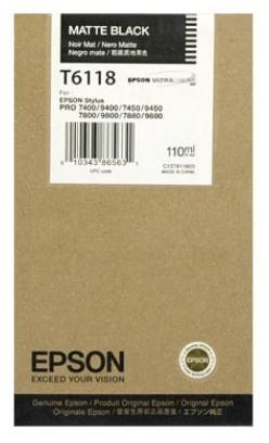 Cartucho de Tinta negro Mate 110 ml Epson T6118
