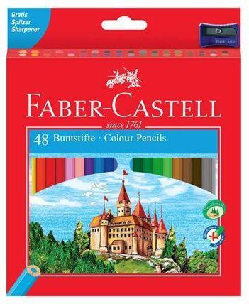 Lapices de colores faber-castell c/48 colores hexagonal madera reforestada