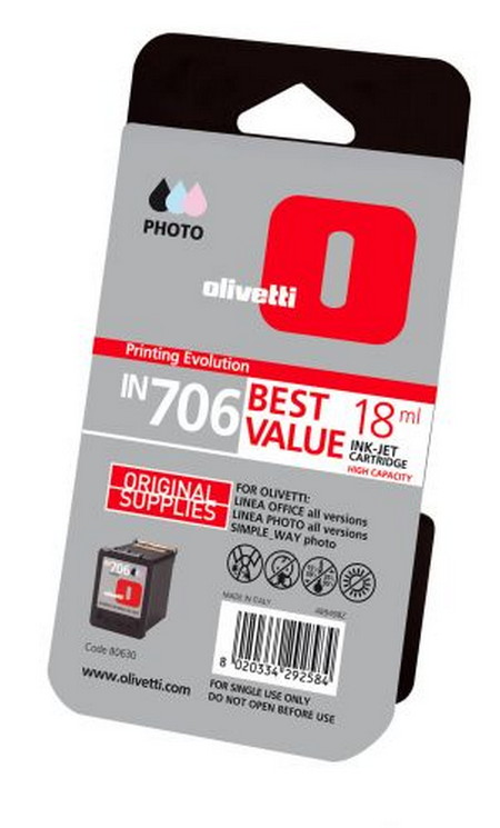Comprar cartucho de tinta alta capacidad B0630 de Olivetti online.
