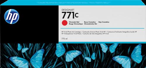 CARTUCHO DE TINTA GRAN FORMATO ROJO CROMATICO 775 ML HP Nº 771