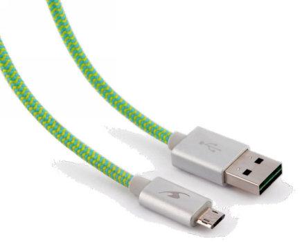 Cables USB BLUESTORK TRENDY-MU-F 1.2M USB A MICRO-USB B VERDE CABLE USB