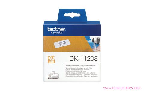 Comprar Etiquetas precortadas DK11208 de Brother online.