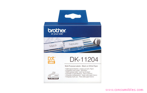 ETIQUETAS MULTIPROPOSITO PAPEL, 17X54 MM BROTHER DK-11204