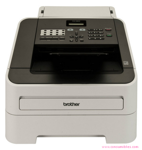 BROTHER FAX-2840 LASER 33.6KBIT/S A4 NEGRO, GRIS FAX