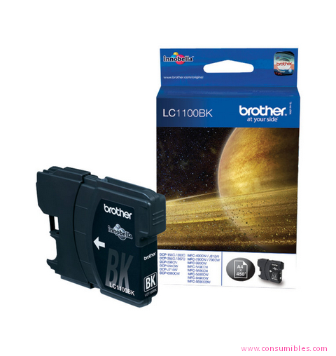 Cartucho de Tinta negro Brother LC-1100BK