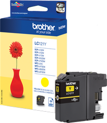 CARTUCHO DE TINTA AMARILLO 3.9 ML BROTHER LC-121Y