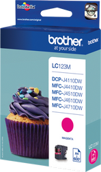 CARTUCHO DE TINTA MAGENTA BROTHER LC-123M