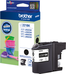 CARTUCHO DE TINTA NEGRO BROTHER LC-221BK