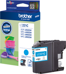 CARTUCHO DE TINTA CIAN BROTHER LC-221C