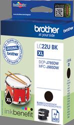 Comprar cartucho de tinta LC22UBK de Brother online.